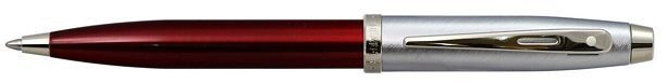 Шариковая ручка Sheaffer 100 Brushed Chrome Plated Cap Red Barrel Nickel CT